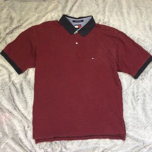 Tommy Hilfiger Polo Red/Blue striped